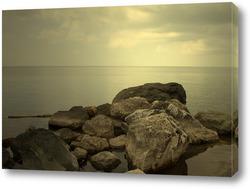 Картина Каменистый берег моря