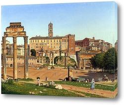 Картина Вид на форуме в Риме (1814)
