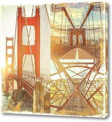 Картина Мосты на рассвете