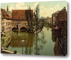 Картина Больница Святого Духа, Нюрнберг, Бавария, Германия.1890-1900 гг