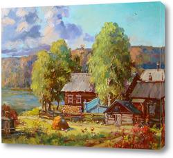 Картина Лето в деревне