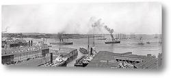 Картина Бостонский причал и набережная, 1906
