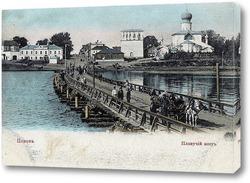 Картина Плавучий мост 1897  –  1909 ,  Россия,  Псковская область,  Псков