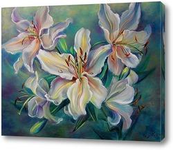 Картина Цветы белой лилии