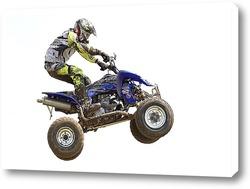 Картина Мотогонщик на квадроцикле