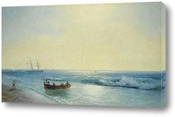 Моряки, Идущие На берегу 1897