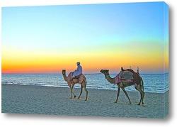 Картина Прогулка на верблюдах