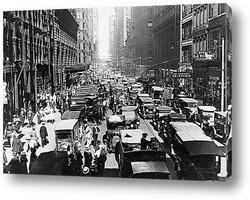 Картина Хаотичное движение на улицах Чикаго.