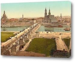 Картина Старый город, Дрезден, Саксония, Германия. 1890-1900 гг