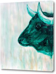 Картина Зелёный бык