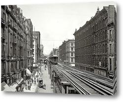 Картина Уобаш авеню, Чикаго, 1900