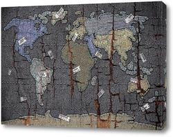 Картина Джинсовая карта