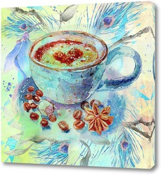 Картина Синяя чашка