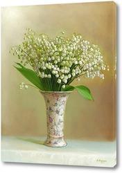 Картина Ландыши в светлой вазочке