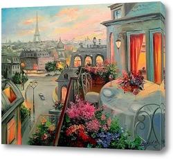 Картина Вдвоем в Париже