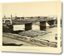 Картина Бородинский мост в Москве,1888
