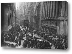 Люди и машины на Уолл Стритт, 1929г.