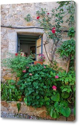 Картина Окно с цветником