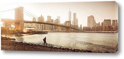 Картина осенний New York