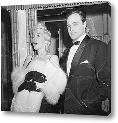 Картина Мерелин Монро и Марлон Брандо,1955г.