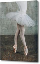 Балерина в белой пачке и пуантах.