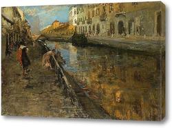 Картина Прогуливаясь вдоль канала. Милан