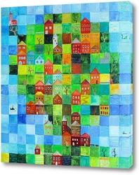 Картина Зеленый город