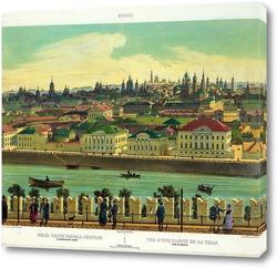 Картина Вид части города, снятый с Кремлевской стены. Видна церковь Вознесения в Кадашах 1845  –  1850