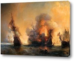 Атака на английский флот графом Турвиллем и Жаном Бартом в Смирн