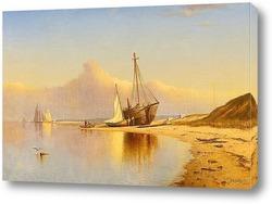 Картина Пляж,Новая Англия