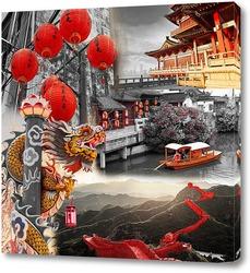 Картина Яркий Китай