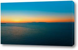 Картина Аэросъемка морского пейзажа на закате.