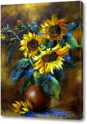 Картина Подсолнухи в вазе