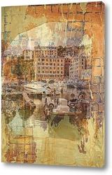 Картина Лодки на пристане