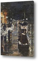 Картина Берлин. Уличная сцена (Лейпцигерштрассе), 1889