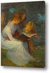 Картина Дети за книгой