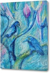 Картина Весенние птицы