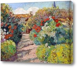 Цветочная аллея летом