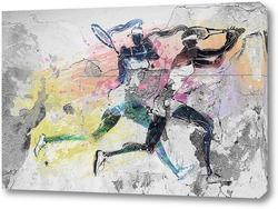 Картина Спорт гранж