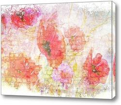 Картина Акварельные цветы мака