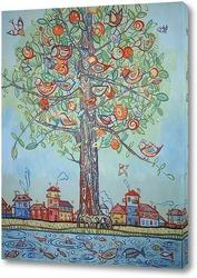 Картина Дерево птиц
