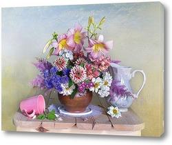 Букет красивых садовых цветов