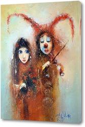 Картина Арлекин и Коломбина