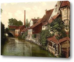 Картина  Хильдесхайм, Ганновер, Германия.1890-1990 гг