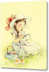Картина Маленькая вышивальщица