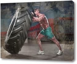 Картина Сильный мужчина
