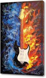 Картина Звучание гитары