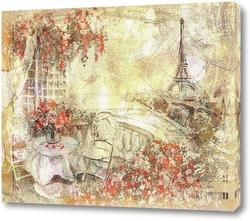 Картина Вид на Париж