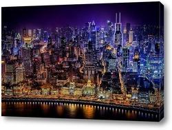 Картина Ночной Шанхай