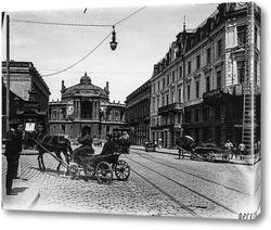 Картина Ришельевская улица. Оперный театр 1895  –  1917 ,  Украина,  Одесская область,  Одесса
